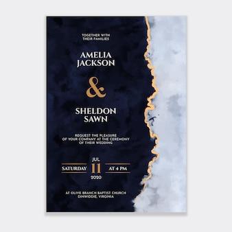 Invitation de mariage aquarelle