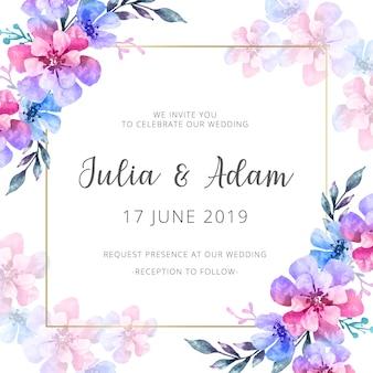 Invitation de mariage d'aquarelle