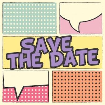 Invitation de mariage d'art pop