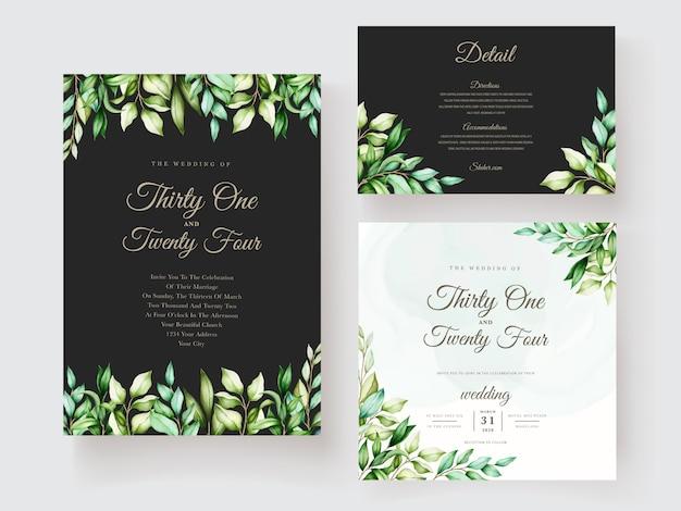 Invitation de mariage avec un beau design de décoration florale