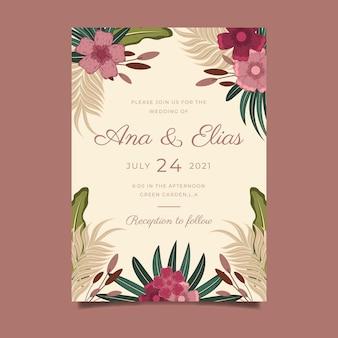Invitation de mariage boho