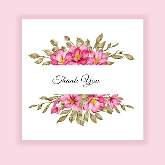 Invitation de mariage de cadre aquarelle rose fleur étiquette