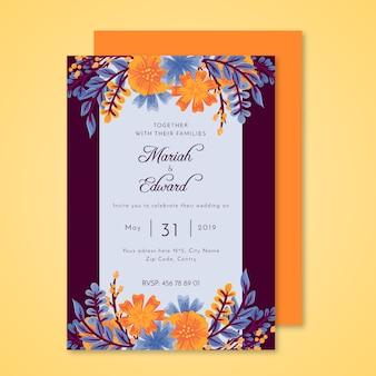Invitation de mariage coloré