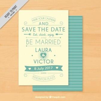 Invitation de mariage de cru avec la typographie