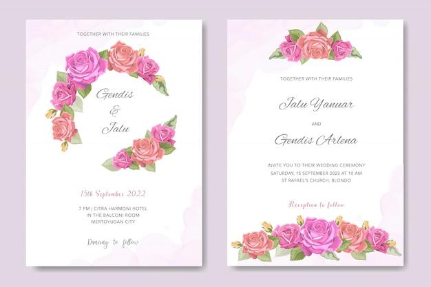 Invitation de mariage design floral