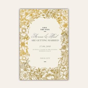 Invitation de mariage dessiné à la main