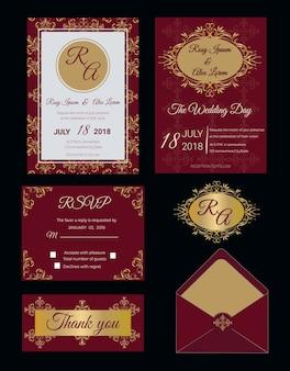 Invitation de mariage, enregistrer la date, carte rsvp, carte de remerciement, étiquettes cadeaux, placer des cartes, carte de réponse.