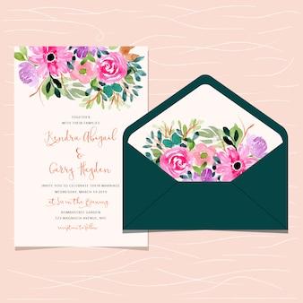 Invitation de mariage et enveloppe