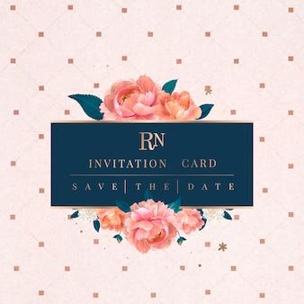 Invitation de mariage d'été