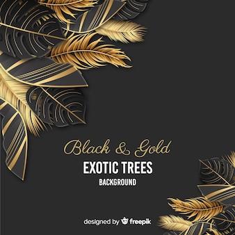Invitation de mariage de feuilles de palmier d'or