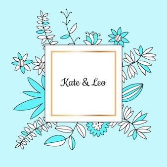 Invitation de mariage avec des fleurs