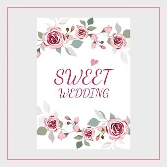 Invitation de mariage floral d'aquarelle