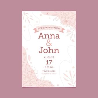 Invitation de mariage floral bio