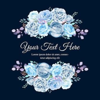 Invitation de mariage floral coloré
