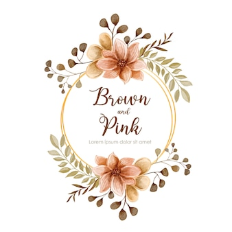 Invitation de mariage floral élégant invitation carte aquarelle