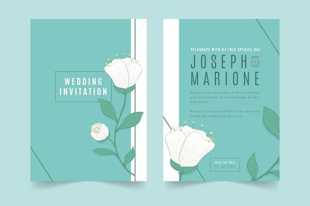 Invitation de mariage floral minimaliste élégant