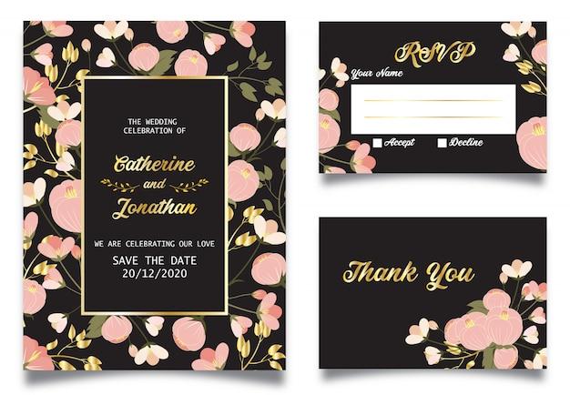 Invitation de mariage floral de printemps