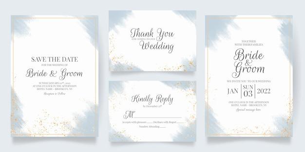 Invitation de mariage avec fond aquarelle