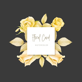 Invitation de mariage avec fond floral