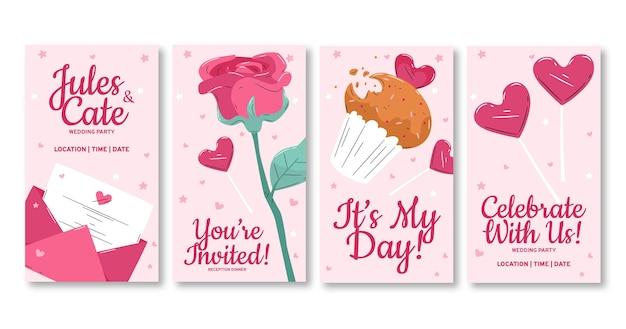 Invitation de mariage histoire instagram
