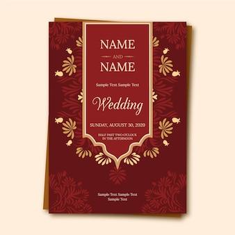 Invitation de mariage indien