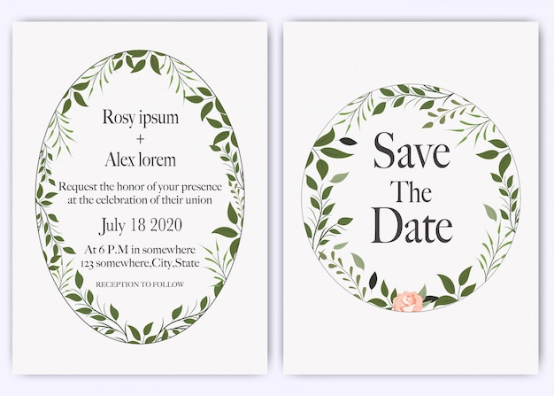 Invitation de mariage, invitation, faites gagner la carte de date avec une élégante anémone de jardin de lavande.