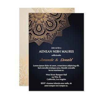 Invitation de mariage de luxe
