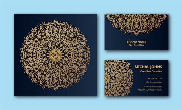Invitation de mariage avec mandala design eps
