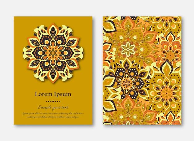 Invitation de mariage mandala floral