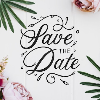 Invitation de mariage mignon