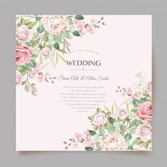 Invitation de mariage avec un modèle de conception élégante