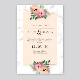 Invitation de mariage modèle élégant