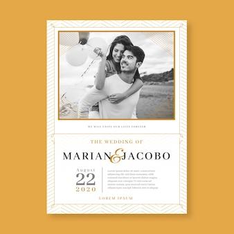 Invitation de mariage avec modèle d'image