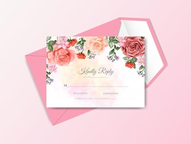 Invitation de mariage peinte à la main