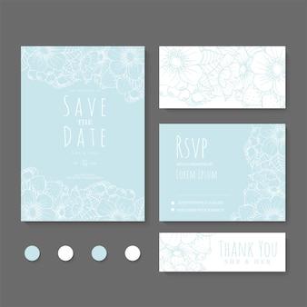 Invitation de mariage, réservez la date.