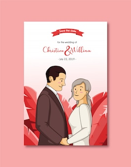 Invitation de mariage romantique