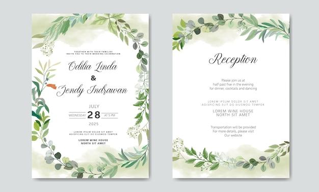 Invitation de mariage avec des thèmes floraux de luxe et de beauté
