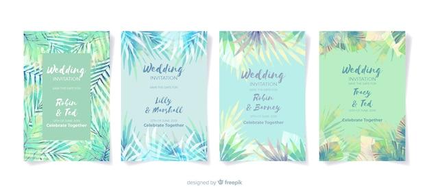 Invitation de mariage tropical