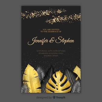 Invitation de mariage tropical