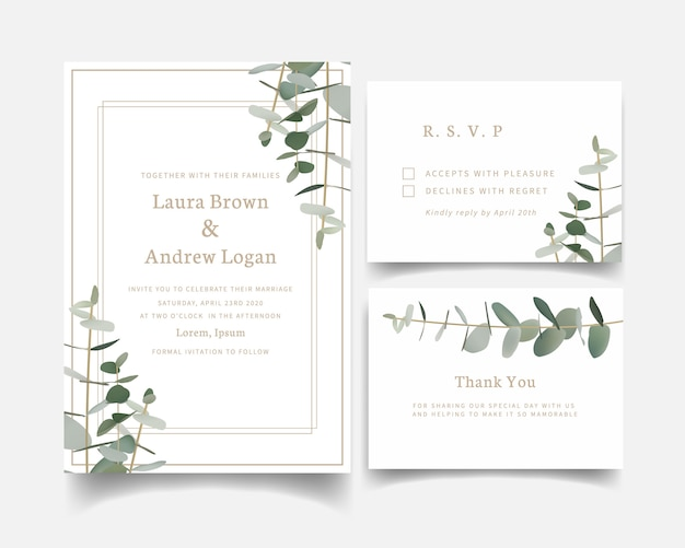 Invitation de mariage de verdure