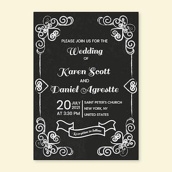 Invitation de mariage vintage de modèle