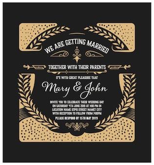 invitation de mariage vintage. réserve cette date.