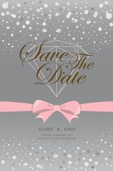 Invitation de mariage vintage