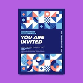 Invitation mosaïque plate