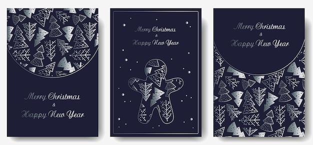 Invitation de noël ou carte postale avec forêt pour les vacances du nouvel an conception d'hiver d'épinette