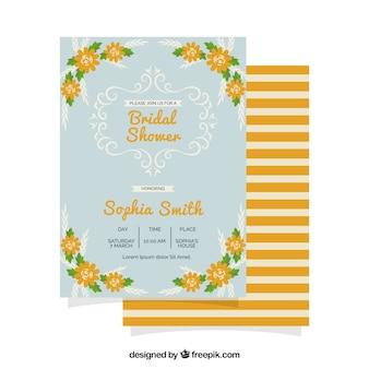 Invitation nuptiale de douche avec des éléments d'orange
