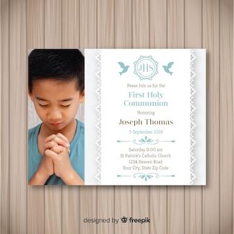 Invitation photographique à la première communion