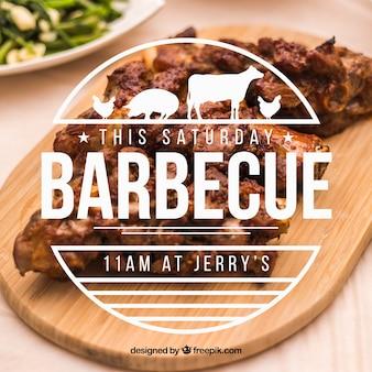 Invitation pour un barbecue avec une belle étiquette