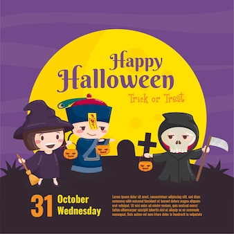 Invitation pour les enfants halloween