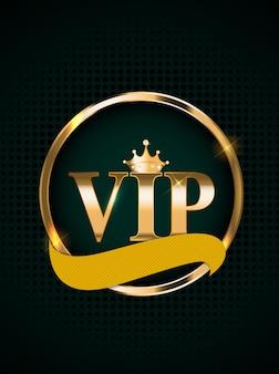 Invitation réservée aux membres vip de luxe abstraite